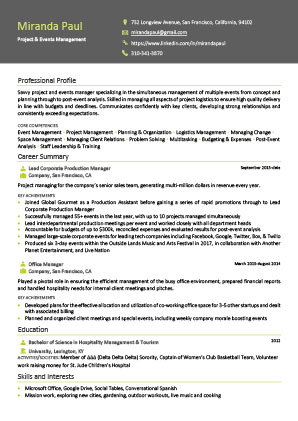James Innes Group - James Innes Group - Global (Global) - CV Resume Example 4